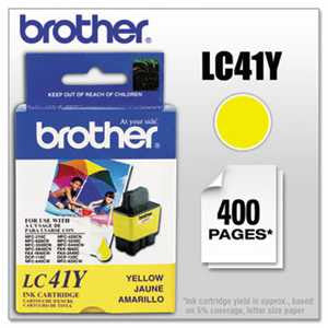 Brother LC41Y LC41Y Ink, Yellow