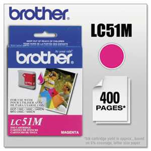 Brother LC51M LC51M Innobella Ink, Magenta