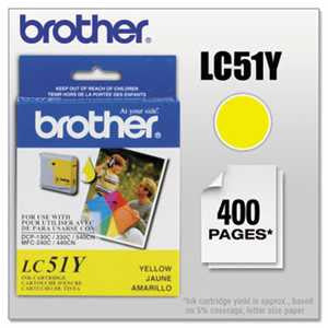 Brother LC51Y LC51Y Innobella Ink, Yellow