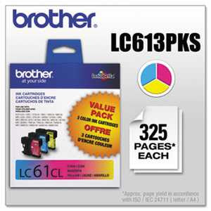 Brother LC613PKS LC613PKS Innobella Ink, Cyan/Magenta/Yellow, 3/PK