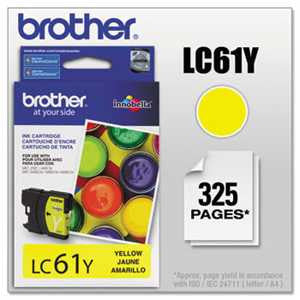 Brother LC61Y LC61Y Innobella Ink, Yellow