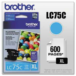 Brother LC75C LC75C Innobella High-Yield Ink, Cyan