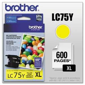 Brother LC75Y LC75Y Innobella High-Yield Ink, Yellow
