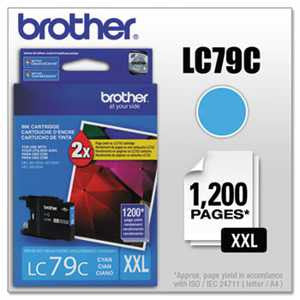 Brother LC79C LC79C Innobella Super High-Yield Ink, Cyan