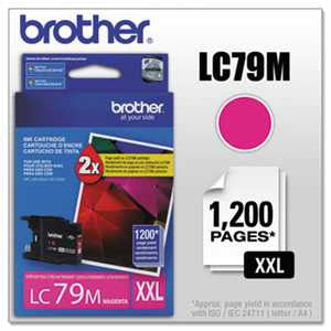 Brother LC79M LC79M Innobella Super High-Yield Ink, Magenta