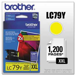 Brother LC79Y LC79Y Innobella Super High-Yield Ink, Yellow