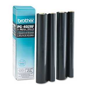Brother PC402RF PC402RF Thermal Transfer Refill Rolls, Black, 2/PK