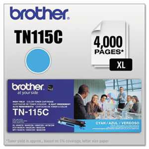 Brother TN115C TN115C High-Yield Toner, Cyan