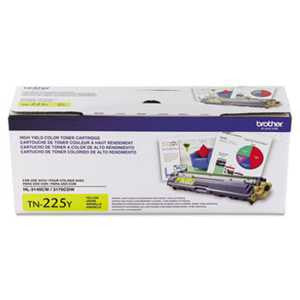 Brother TN225Y TN225Y High-Yield Toner, Yellow