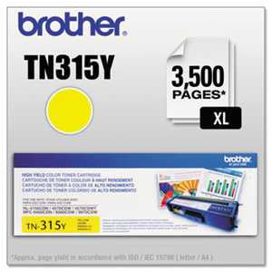 Brother TN315Y TN315Y High-Yield Toner, Yellow