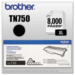 Brother TN750 TN750 High-Yield Toner, Black