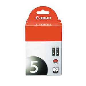 Canon 0628B009 0628B009 (PGI-5BK) ChromaLife100+ Ink, Black, 2/PK
