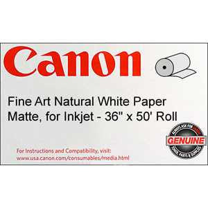 "Canon® 0850V063 Fine Art Natural Paper, 36 "" x 50 feet, Roll"