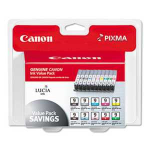 Canon 1033B005 1033B005 (PGI-9) Lucia Ink, Assorted, 10/PK