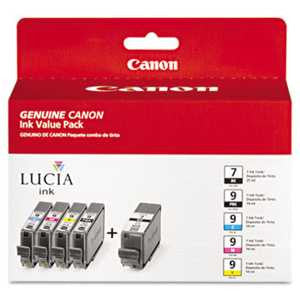 Canon 1034B010 1034B010 (PGI-7/PGI-9) Ink, Assorted, 5/PK