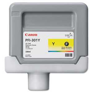 Canon® 1489B001AA 1489B001 (PFI-301Y) Ink Tank, 330 mL, Yellow