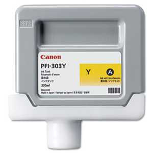 Canon® 2961B001AA 2961B001 (PFI-303Y) Ink, 330 mL, Yellow