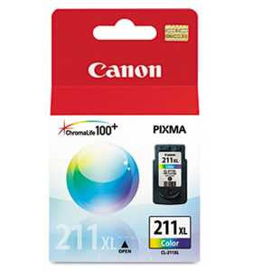 Canon 2975B001 2975B001 (CL-211XL) High-Yield Ink, Tri-Color