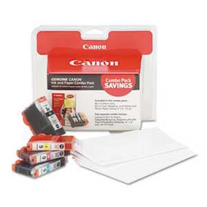 Canon 4479A292 4479A292 (BCI-3E/BCI-6) Ink & Paper Combo Pack, Black/Cyan/Magenta/Yellow