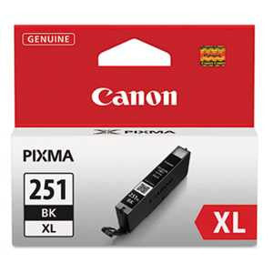 Canon 6448B001 6448B001 (CLI-251XL) ChromaLife100+ High-Yield Ink, Black
