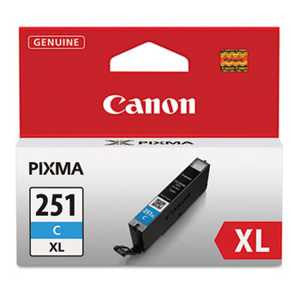 Canon 6449B001 6449B001 (CLI-251XL) ChromaLife100+ High-Yield Ink, Cyan