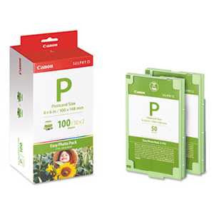 Canon EP100 EP100 (E-P100) Easy Photo Pack Ink & Paper Set, Tri-Color