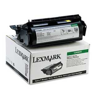 Lexmark 12A5845 12A5845 High-Yield Toner, 25000 Page-Yield, Black