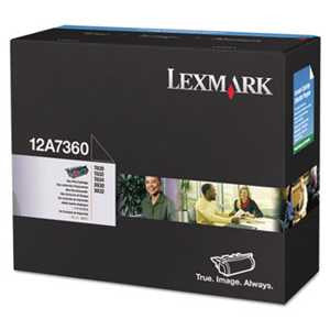Lexmark 12A7360 12A7360 Toner, 5000 Page-Yield, Black