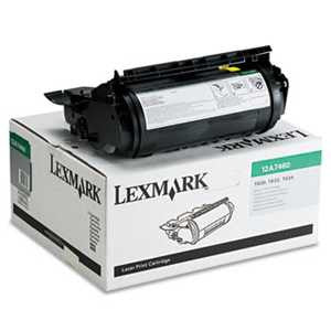 Lexmark 12A7460 12A7460 Toner, 5000 Page-Yield, Black