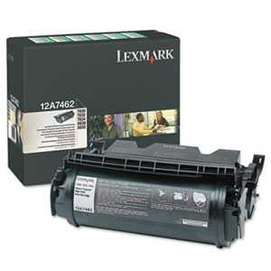 Lexmark 12A7462 12A7462 High-Yield Toner, 21000 Page-Yield, Black