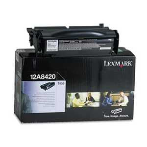 Lexmark 12A8420 12A8420 Toner, 6000 Page-Yield, Black