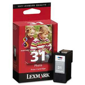Lexmark™ 18C0031 18C0031 (31) High-Yield Photo Ink, 475 Page-Yield, Tri-Color