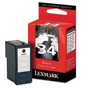 Lexmark 18C0034 18C0034 (34) High-Yield Ink, 475 Page-Yield, Black