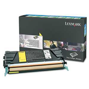 Lexmark C5246YH C5246YH High-Yield Toner, 5000 Page-Yield, Yellow