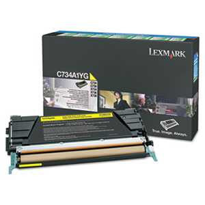 Lexmark C748H1YG C748H1YG High-Yield Toner, 10000 Page-Yield, Yellow