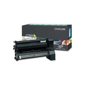 Lexmark C7700YH C7700YH High-Yield Toner, 10000 Page-Yield, Yellow