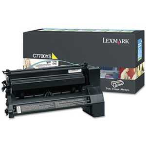 Lexmark C7700YS C7700YS Toner, 6000 Page-Yield, Yellow