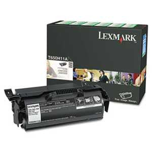 Lexmark T650H11A T650H11A High-Yield Toner, 25000 Page-Yield, Black