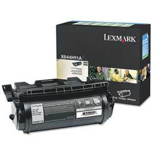 Lexmark X644H11A X644H11A High-Yield Return Program Toner, 21000 Pg-Yld, Black