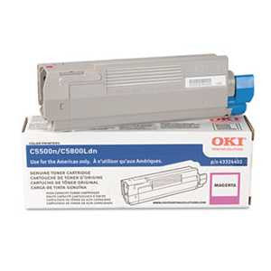 Oki 43324402 43324402 High-Yield Toner (Type C8), 5000 Page-Yield, Magenta