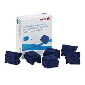 Xerox 108R01014 108R01014 High-Yield Ink Stick, 16900 Page-Yield, Cyan, 6/Box