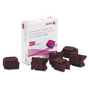 Xerox 108R01015 108R01015 High-Yield Ink Stick, 16900 Page-Yield, Magenta, 6/Box