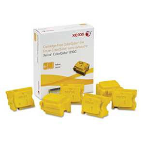 Xerox 108R01016 108R01016 High-Yield Ink Stick, 16900 Page-Yield, Yellow, 6/Box