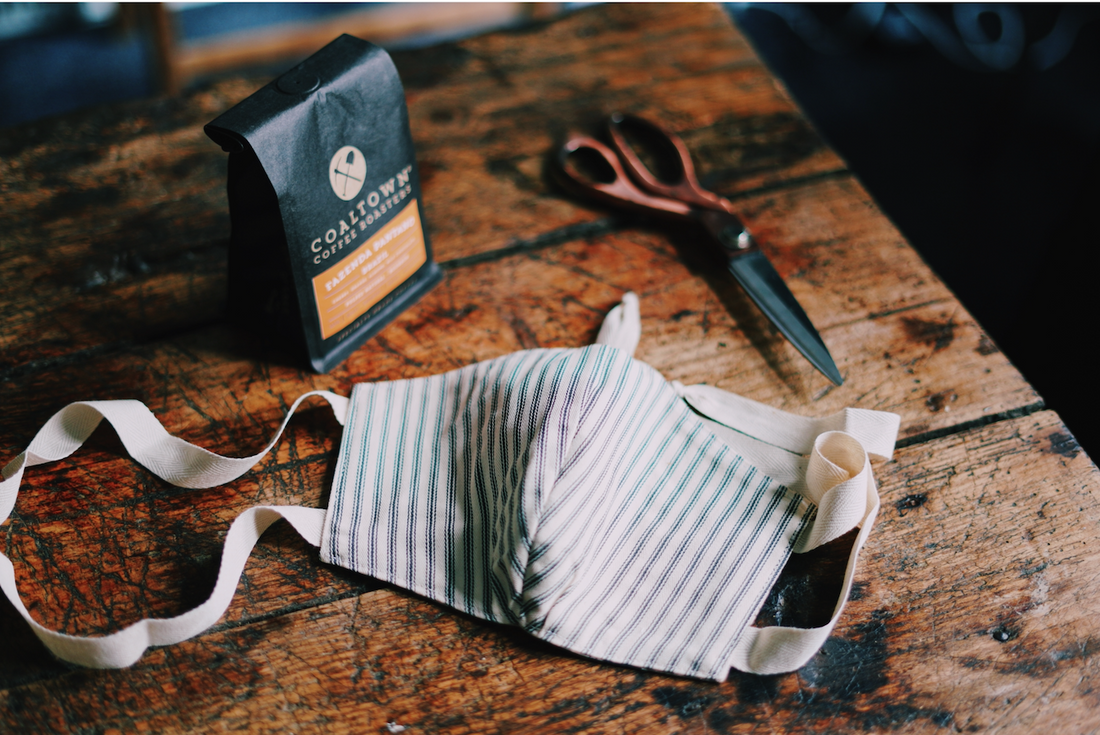 How to make a protective mask using your left over coffee bags