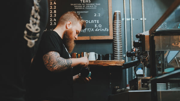 Seb at the Coaltown Espresso Bar