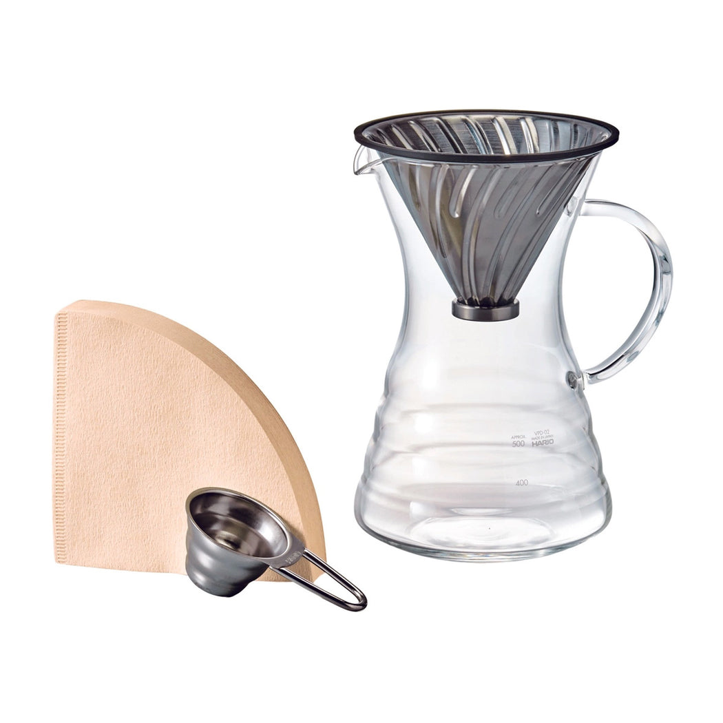 Hario-V60-Pour-Over-Decanter-with-Metal-Dripper