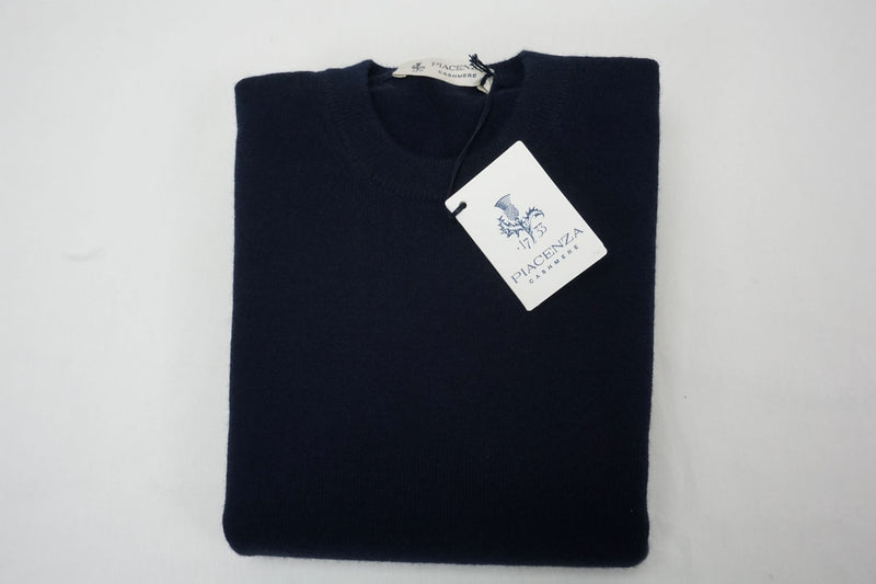Piacenza navy cashmere crew-neck sweater