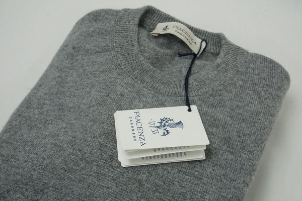 Piacenza light Grey cashmere crew-neck sweater