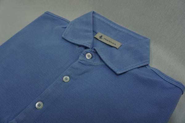 Piacenza light blue polo shirt