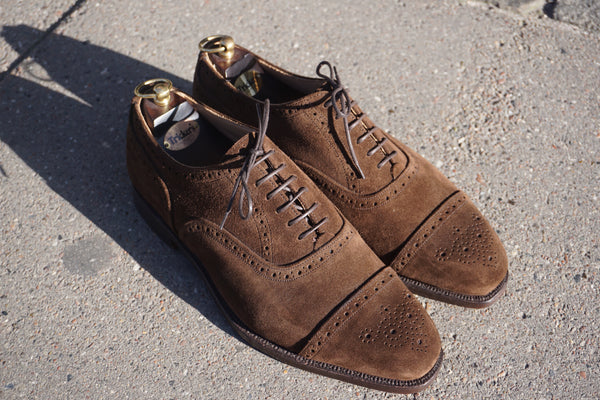 Tricker's Brown Semi Brogue